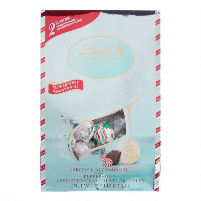 Lindt Lindor Assorted Peppermint Chocolate Truffles Bag