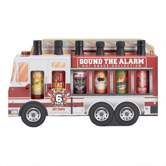 Fire Truck Hot Sauce Sampler 6 Pack