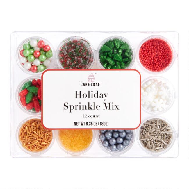 Cake Craft Holiday Sprinkles Kit 12 Count