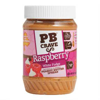 PB Crave Raspberry White Fudge Peanut Butter Spread