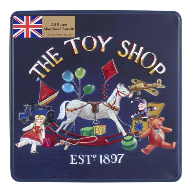 Grandma Wild's The Toy Shop Shortbread Biscuits Tin