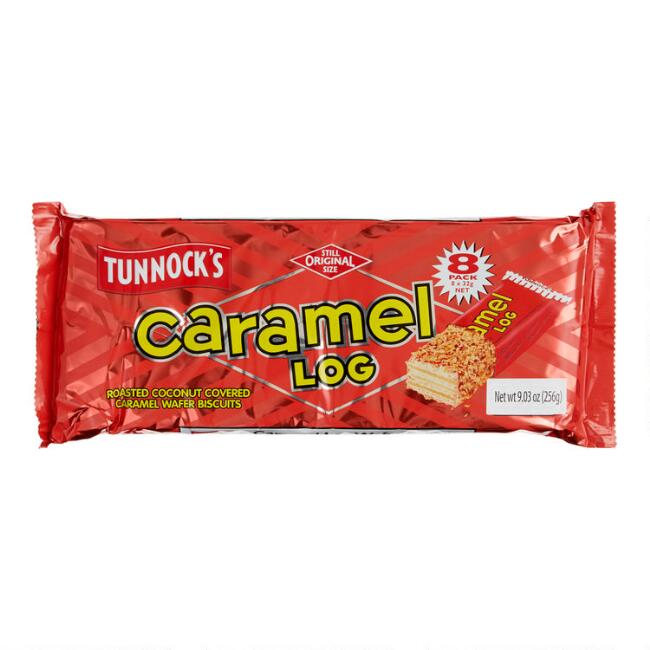 Tunnock's Caramel Log Wafer Bars 8 Pack