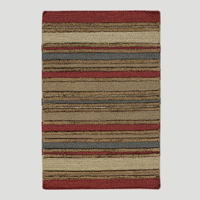 Chunky Stripe Kilim Wool Rug World Market
