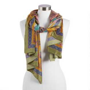 db28abc524c8c Multicolor Abstract Paisley Silky Scarf. Quick Shop