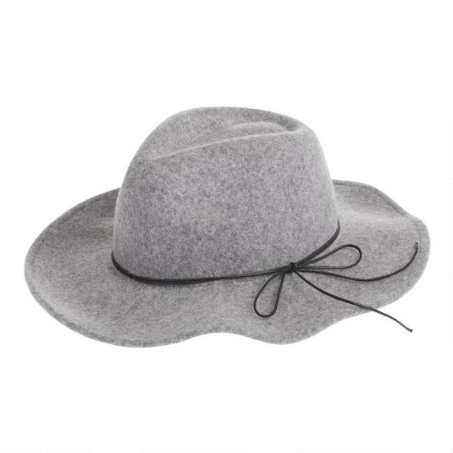 Heathered Gray Wool Rancher Hat