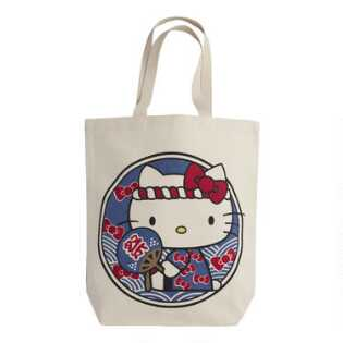 Hello Kitty Omatsuri Canvas Tote Bag