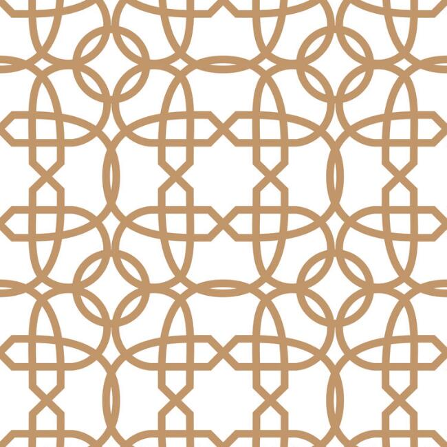 Gold and White Geometric Peel and Stick Wallpaper