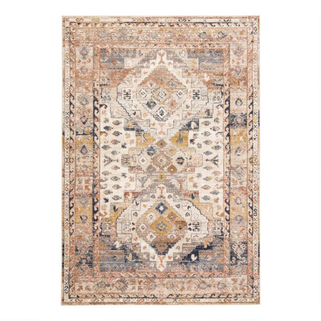 Beige Multicolor Medallion Natalia Area Rug
