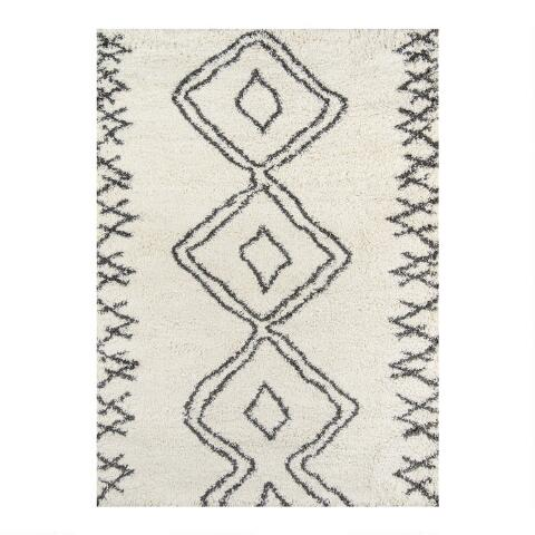 Ivory Geometric Devin Area Rug World Market