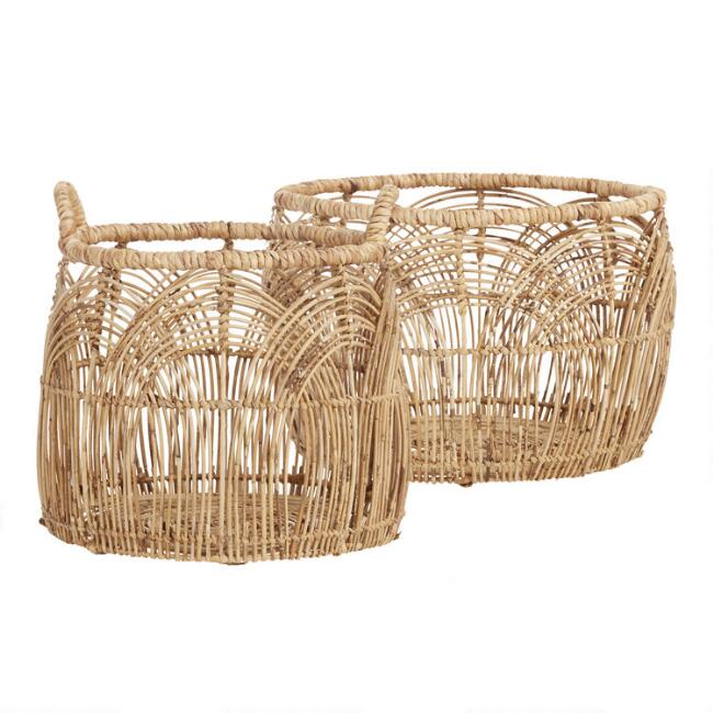 Natural Rattan Eve Basket Collection