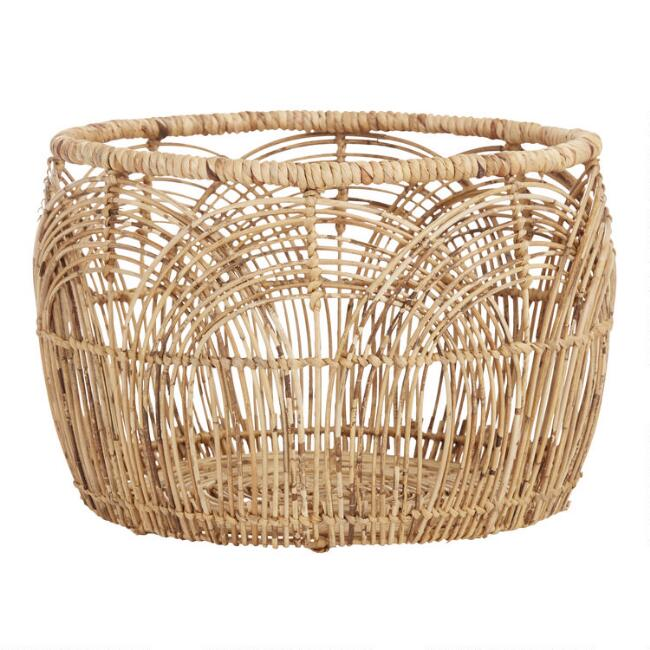 Large Natural Rattan Eve Basket