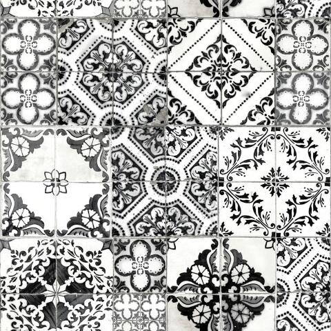 Black And White Mosaic Tile L