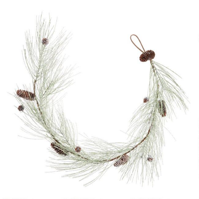 Icy Pine And Pinecone Garland