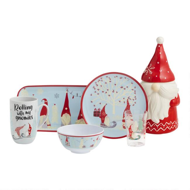 Holiday Gnome Serveware Collection