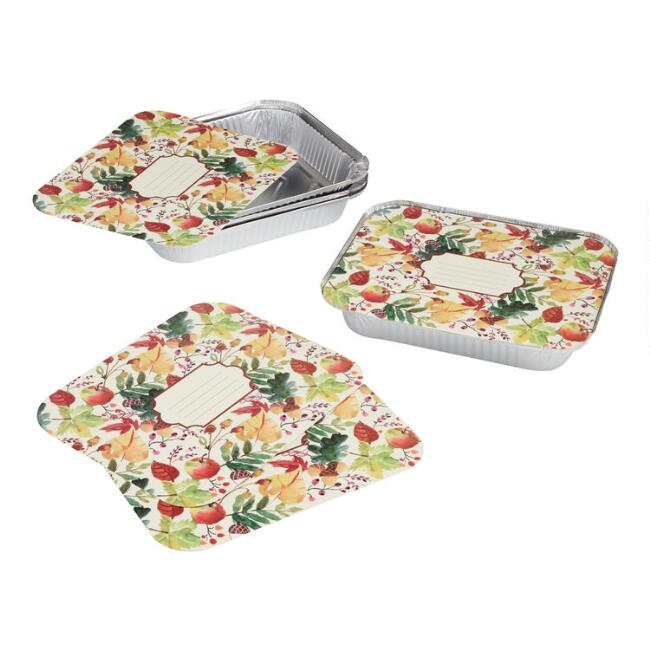Thanksgiving Casserole Bake Away Pans with Lids 4 Pack