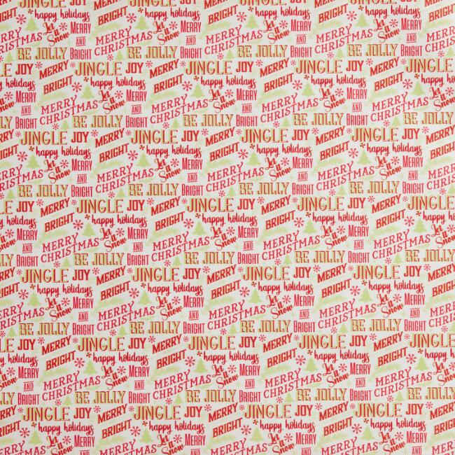 Retro Type Holiday Parchment Paper Roll