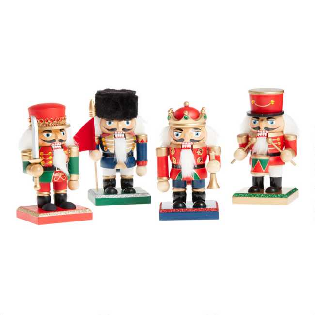 Traditional Short Nutcrackers Set Of 4