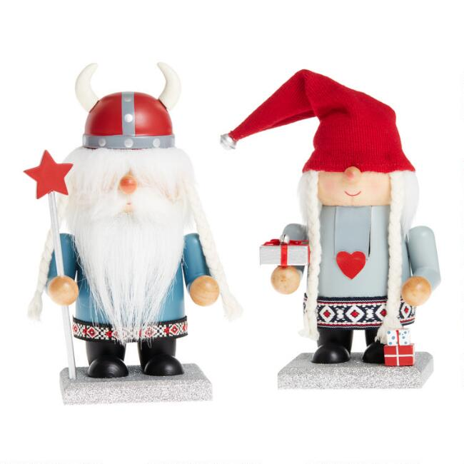 Gnome Chubby Nutcrackers Set of 2