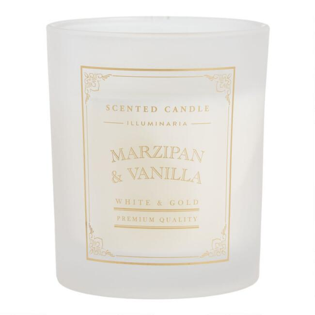 Marzipan And Vanilla Boxed Frosted Jar Candle