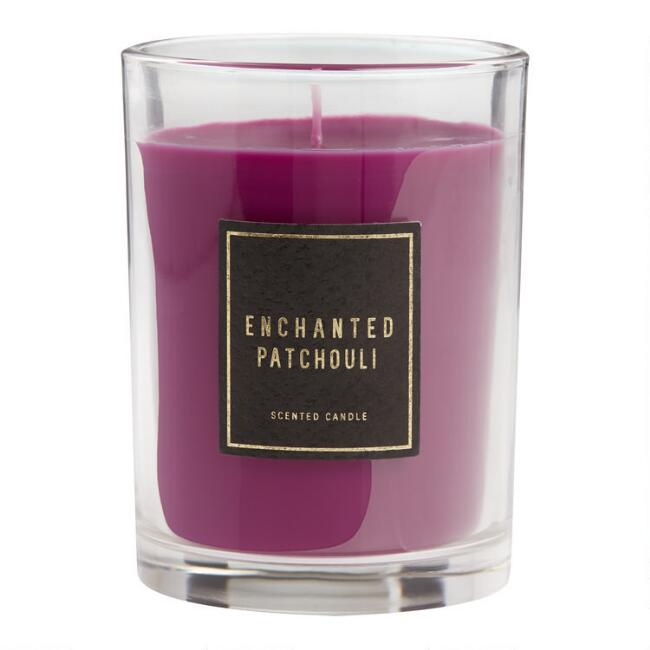 Gray Enchanted Patchouli Art Deco Boxed Jar Candle