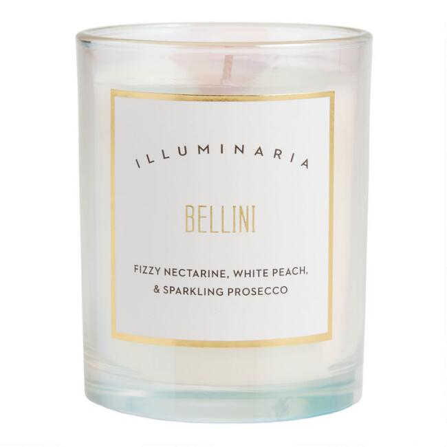 Bellini Holographic Cocktail Filled Jar Candle