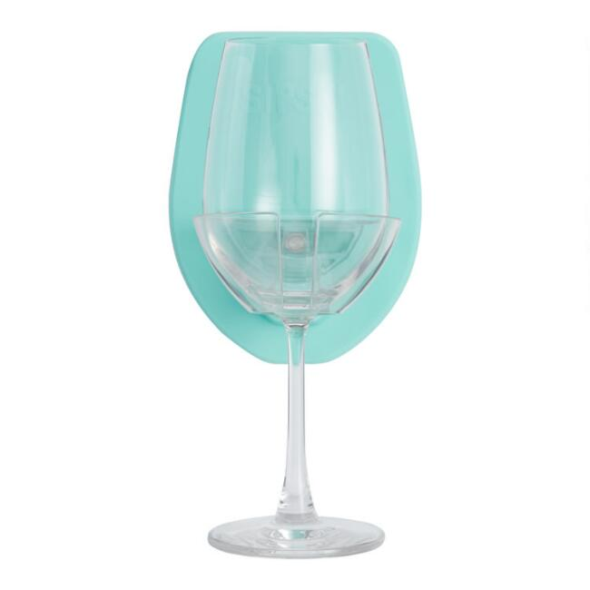 Sipski Silicone Shower Wine Glass Holder