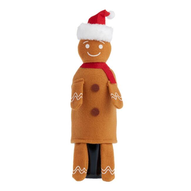 Gingerbread Man Wine Bottle Outfit