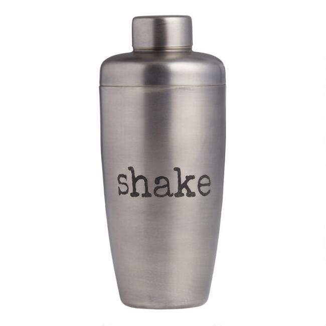 Antiqued Silver Cocktail Shaker