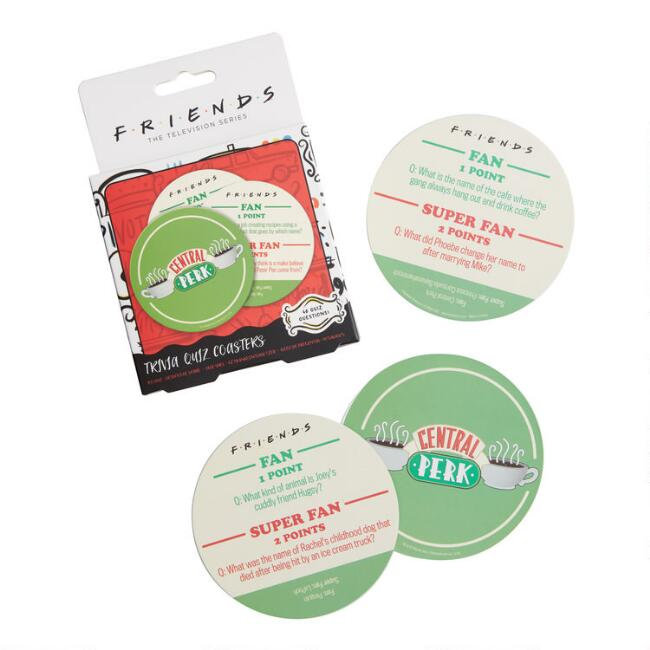 Friends Central Perk Trivia Drink Coasters 20 Pack