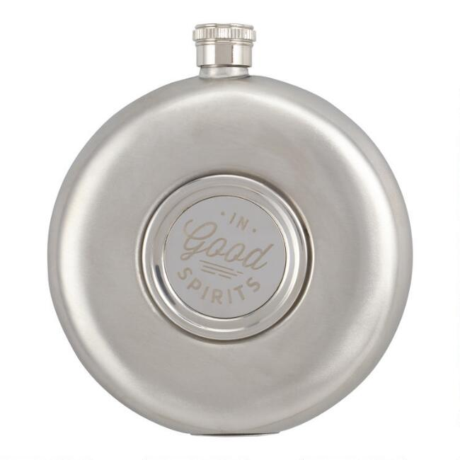 Gentleman's Hardware Round Hip Flask and Shot Cup