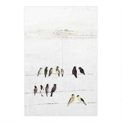 Birds on a Wire Canvas Wall Art