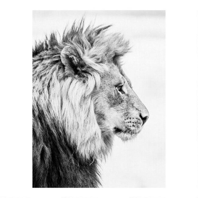 Fierce Black and White Canvas Wall Art