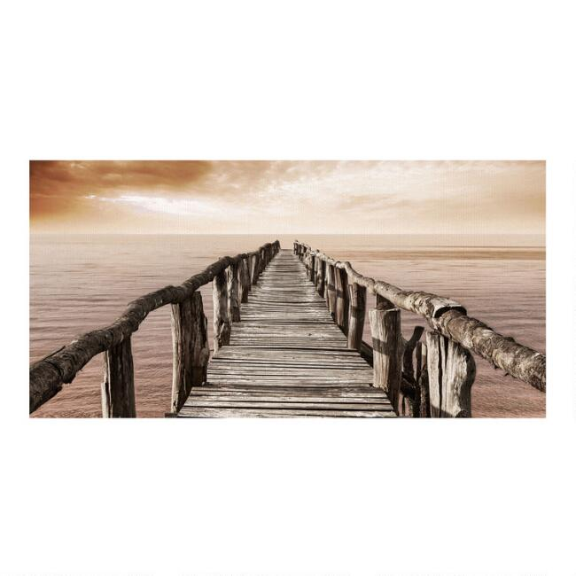 Wooden Pier Canvas Wall Art
