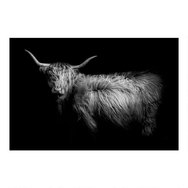 Hello Black and White Canvas Wall Art