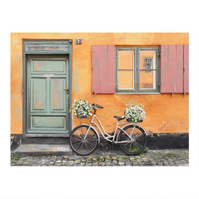 Paniers a Fleurs Canvas Wall Art