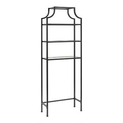 Bronze Metal and Glass Milayan Bathroom Space Saver Shelf