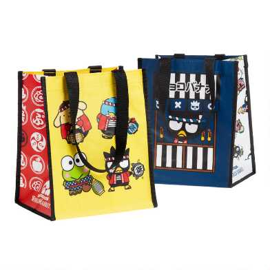 Small Hello Kitty Omatsuri Tote Bags Set Of 2