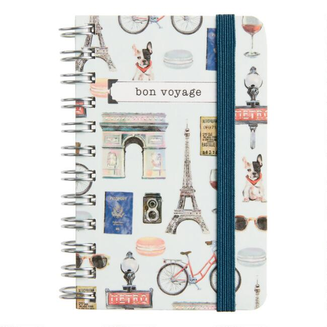 Bon Voyage Spiral Pocket Notebook