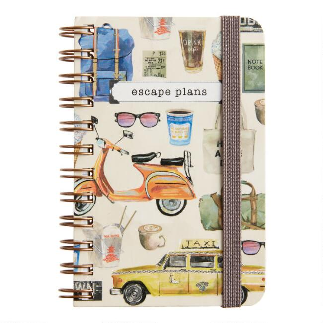 Escape Plans Spiral Pocket Notebook