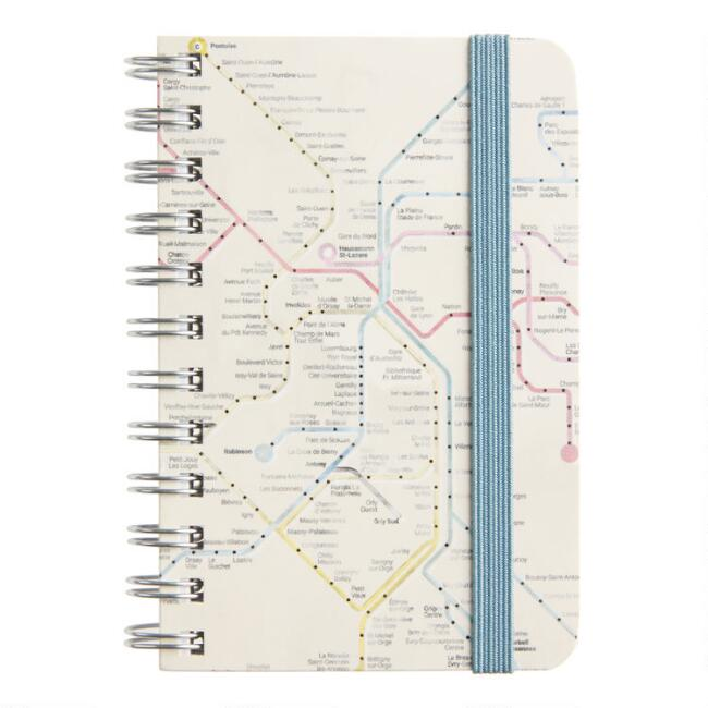 Subway Map Spiral Pocket Notebook