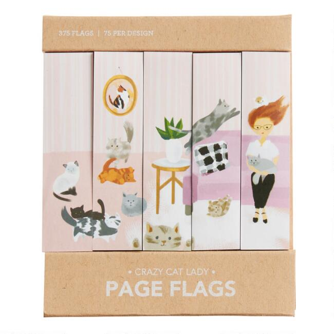 Crazy Cat Lady Sticky Page Flags