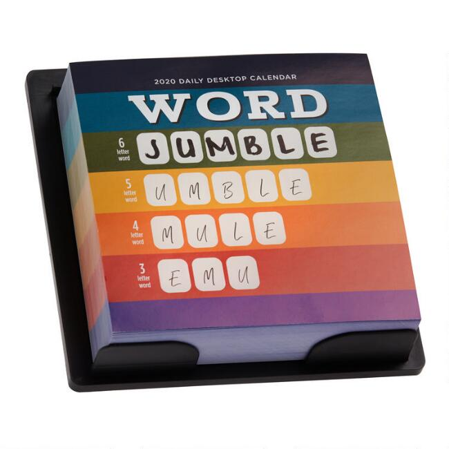 Word Jumble 2020 Daily Desk Calendar