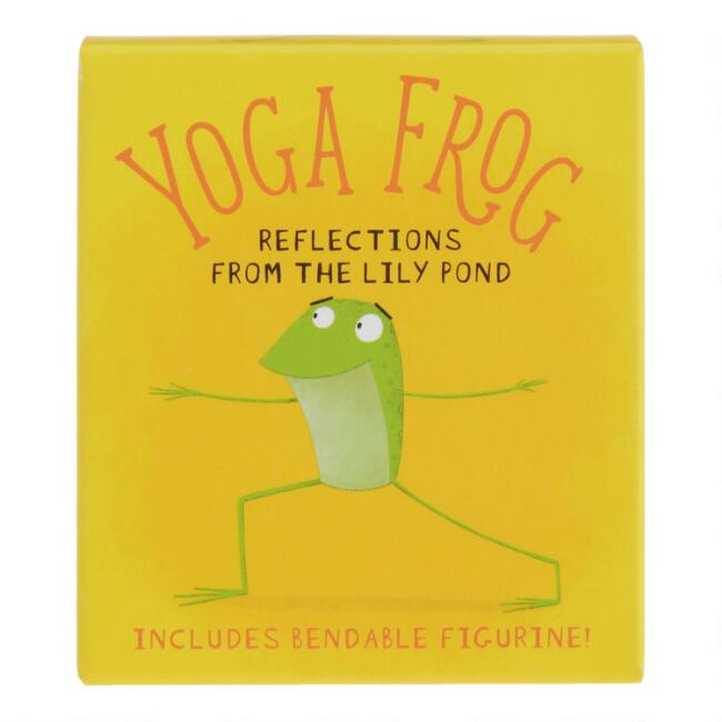 Mini Yoga Frog Figurine and Book Set