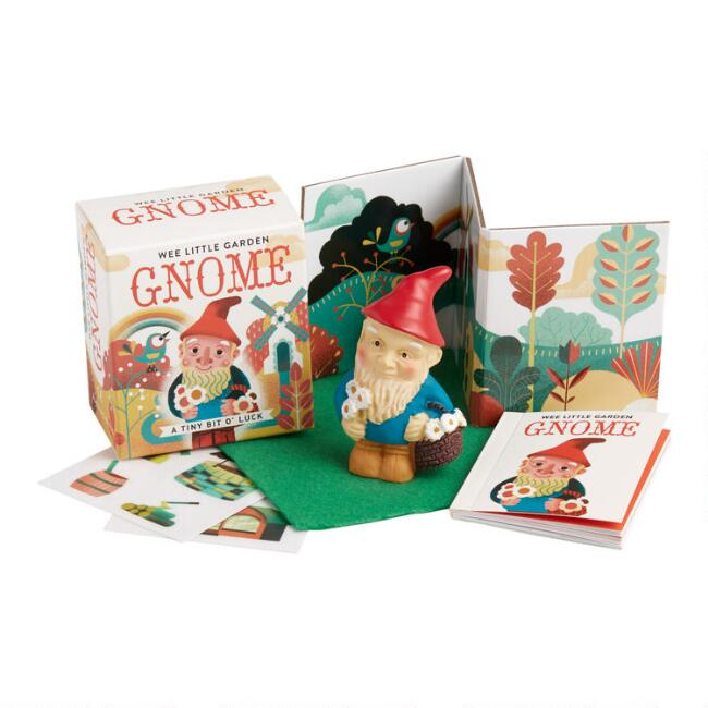 Wee Little Garden Gnome and Mini Book Set