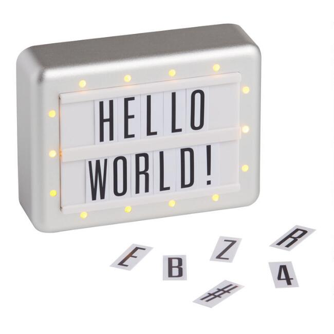 Itty Bitty Marquee Light It Up Customizable Mini Sign Kit