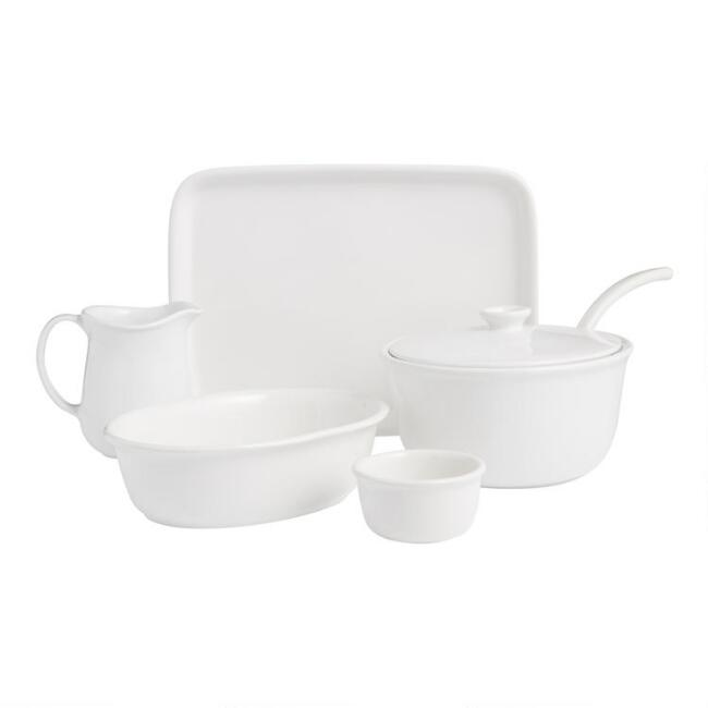 White Meadow Serveware Collection