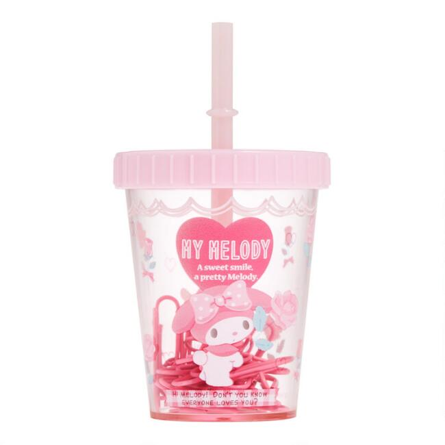 My Melody Magnetic Straw Cup Paper Clip Holder