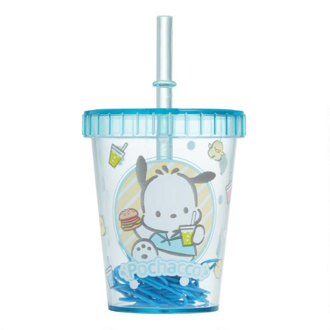 Pochacco Magnetic Straw Cup Paper Clip Holder