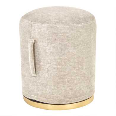 Taupe Gray Upholstered Bailey Stool