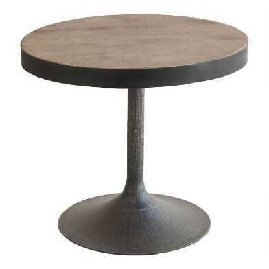 Small Oval Reclaimed Pine Victor Accent Table
